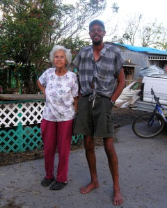 Roger Verdin and his 82-year-old mother, Marcelite Narquinis